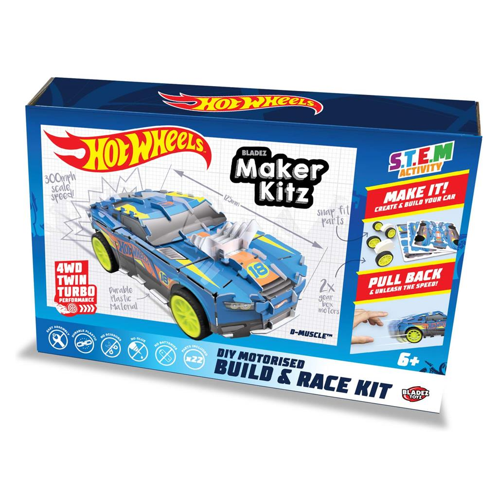 HOT WHEELS MAKER KITZ BUILD EN RACE KIT