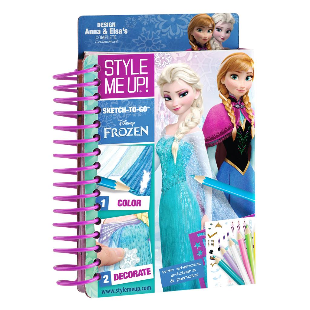 STYLE ME UP FROZEN SCHETSBOEK TO GO
