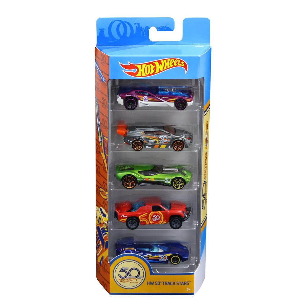 HOT WHEELS 50TH ANNIVERSARY 5 PACK