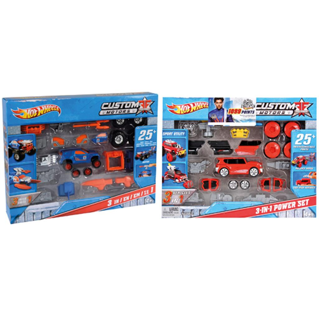 HOT WHEELS CUSTOM MOTORS POWER SET DIVERSE SOORTEN LEVERBAAR