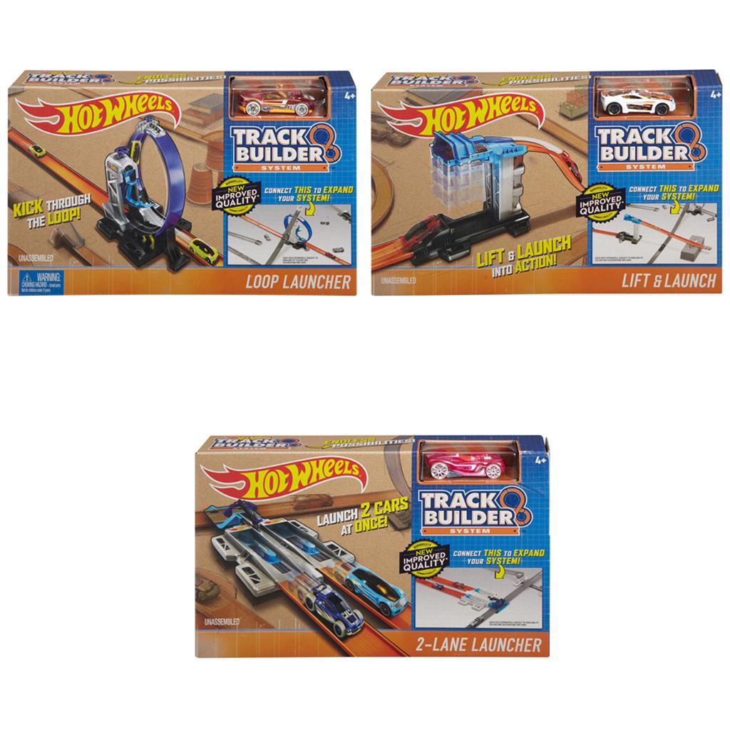 HOTWHEEL TRACK BUILDER BASIS SET MET AUTO ASSORTIMENT