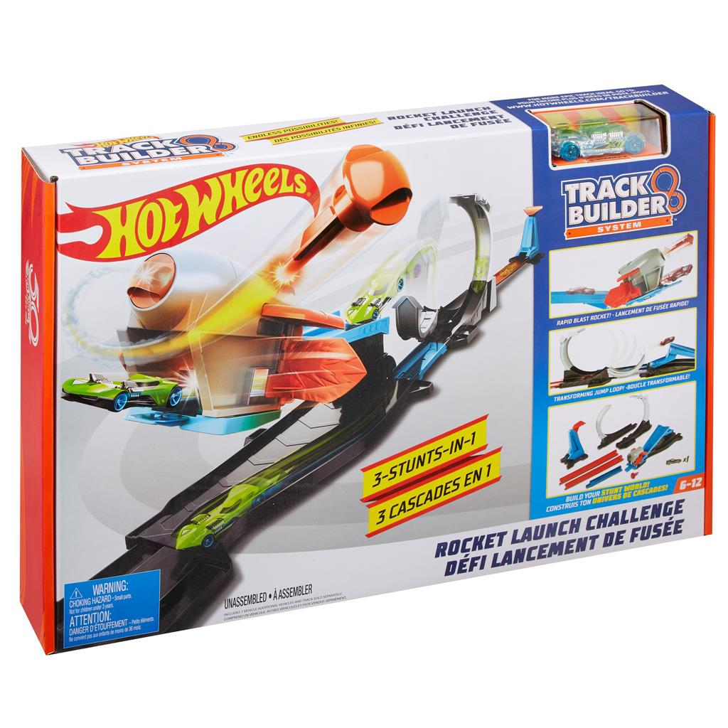 hot wheels TRACK BUILDER BLAST OFF CHALANGE