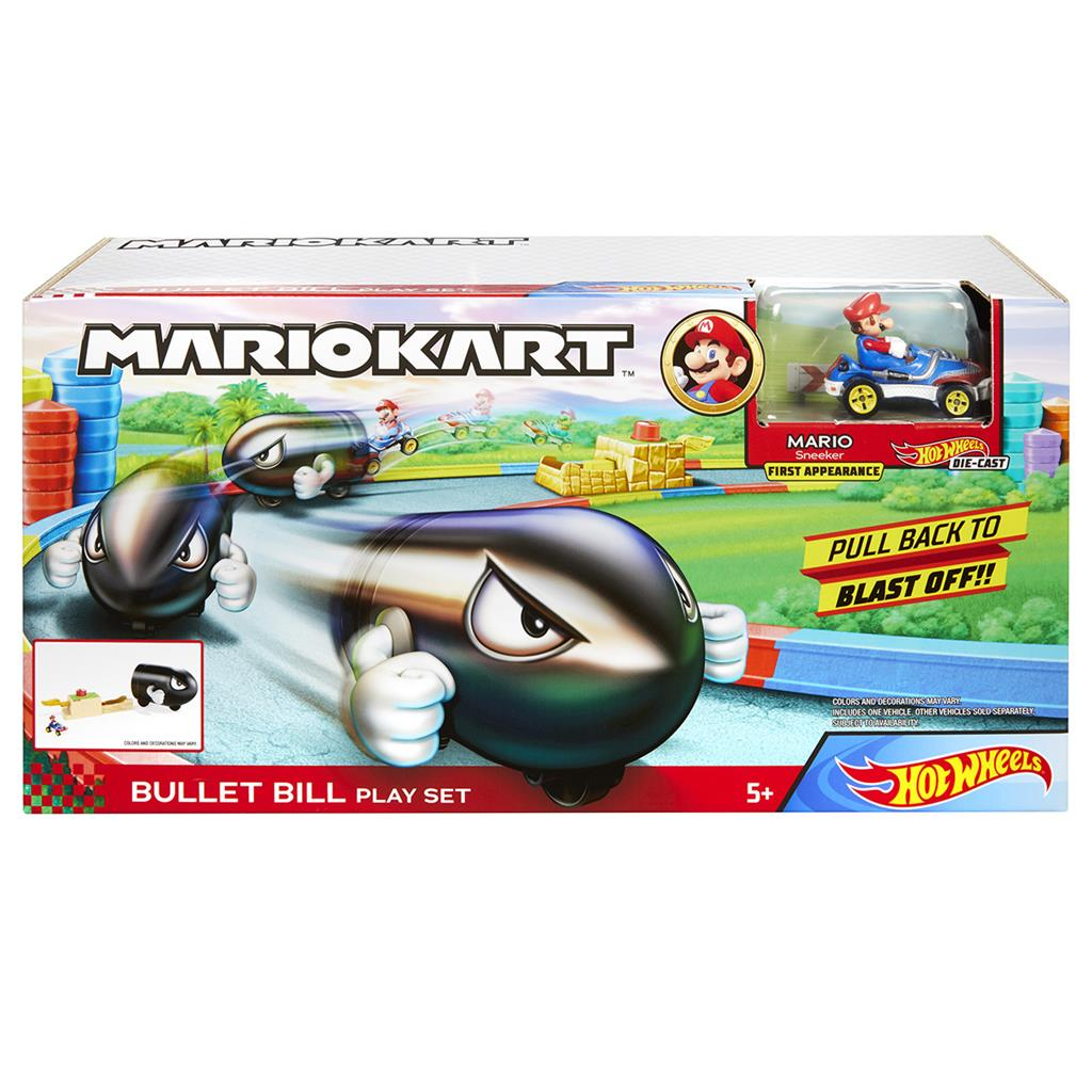 HOT WHEEL MARIO KART BULLET BILL SPEELSET