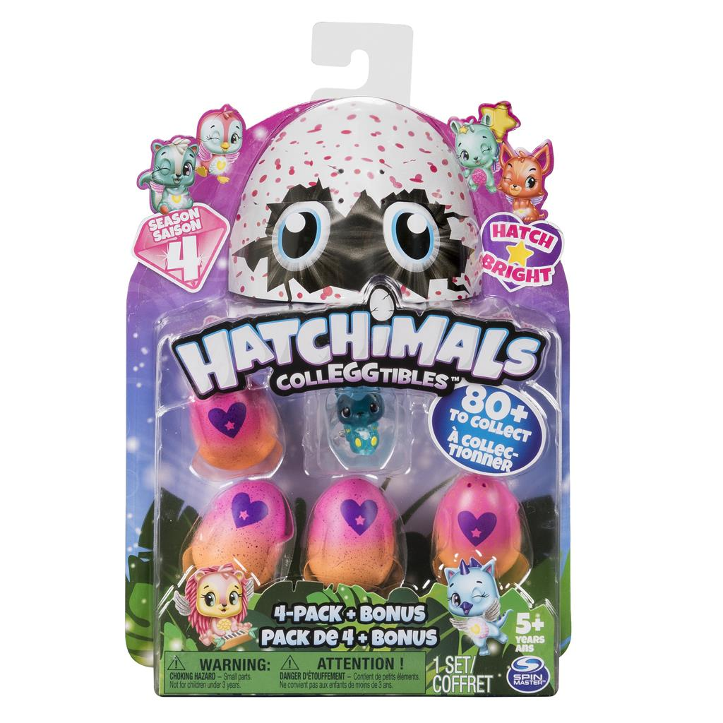 HATCHIMALS COLLEGGTIBLES 4 PACK +BONUS