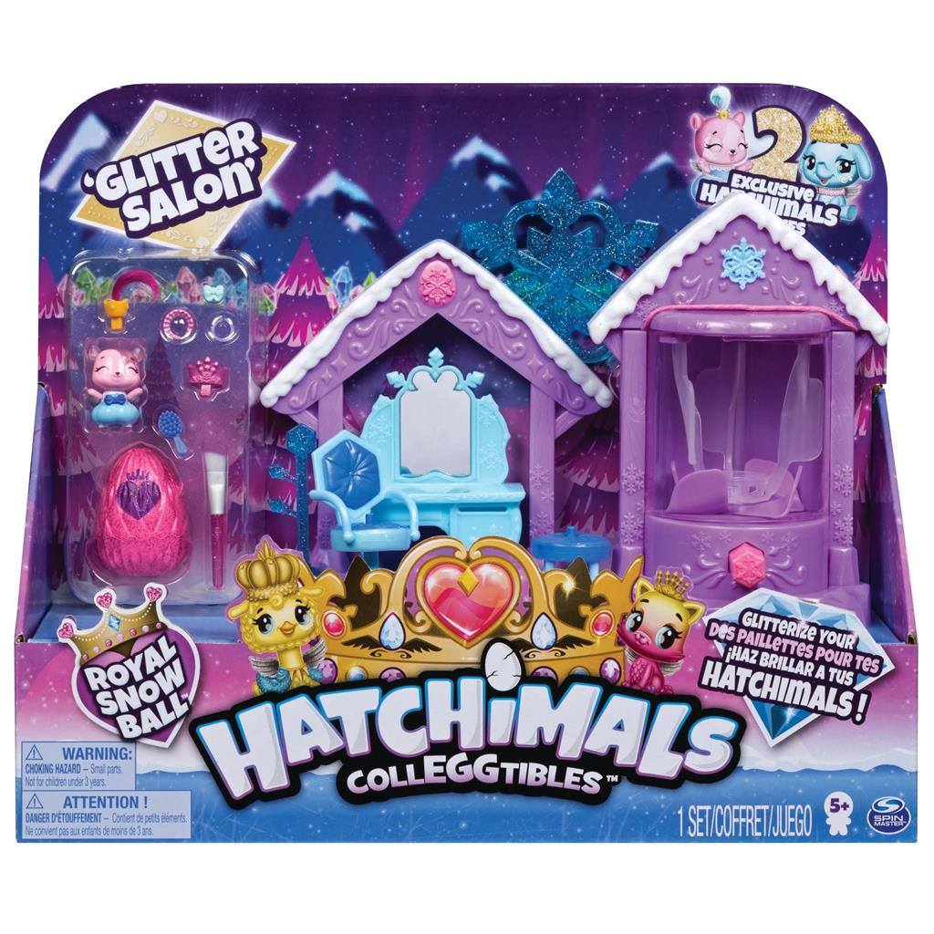 HATCHIMALS COLLEGGTIBLES GLITTER SALON SPEELSET