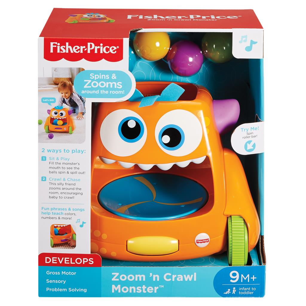 FISHER PRICE ZOOM EN CRAWL MONSTER