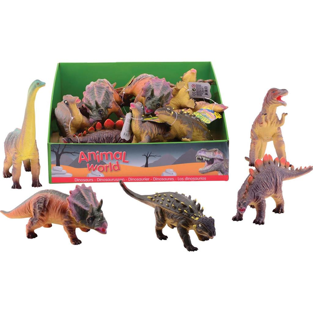 DINO 26-38 CM 6 ASSORTI ANIMAL WORLD