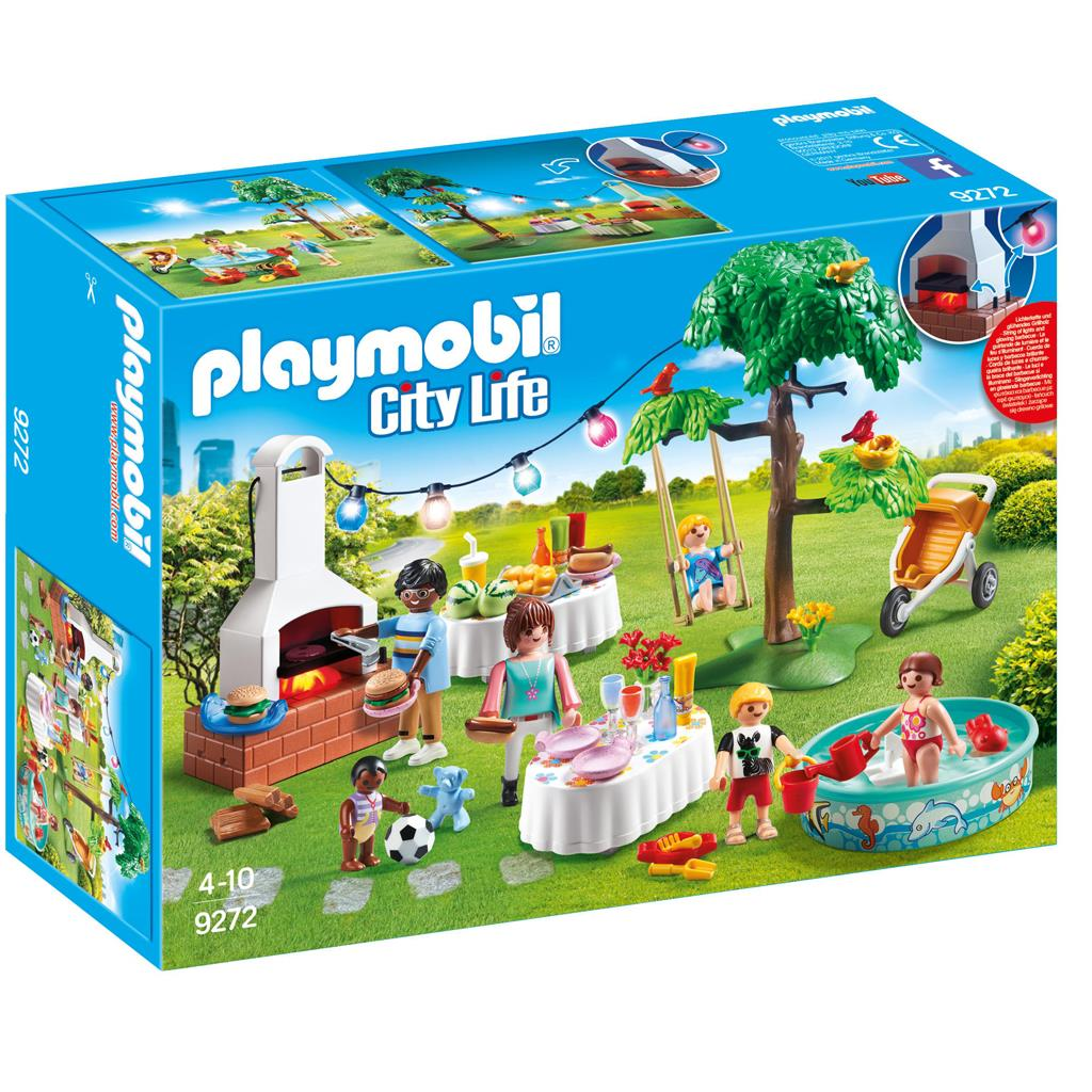 PLAYMOBIL FAMILIEFEEST MET BARBECUE 9272