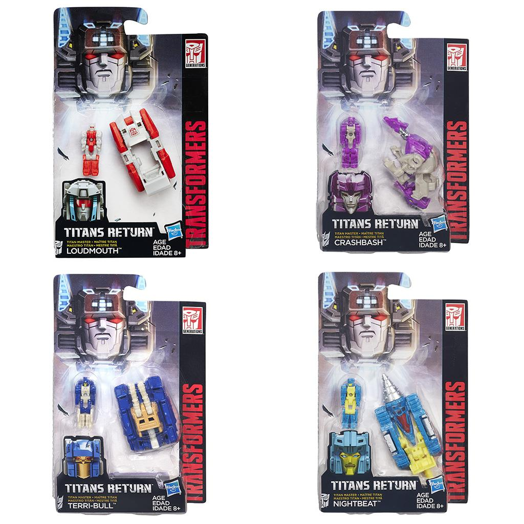 TRANSFORMERS GENERATIONS TITAN MASTERS ASSORTIMENT