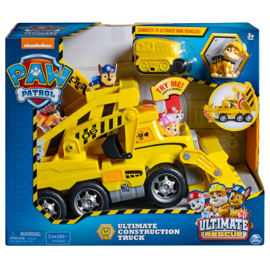 PAW PATROL UTLIMATE CONSTRUCTION RESCUE TRUCK RUBBLE