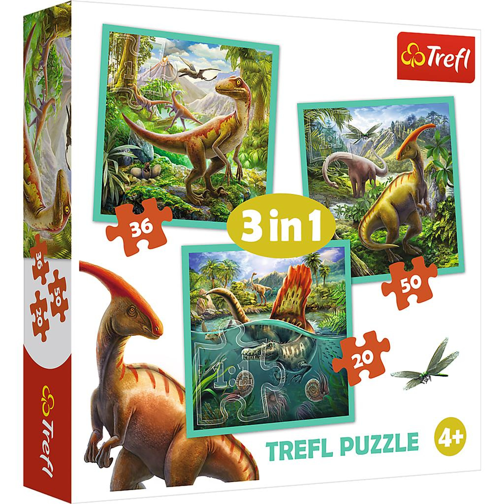 PUZZEL 3 IN 1 DINO