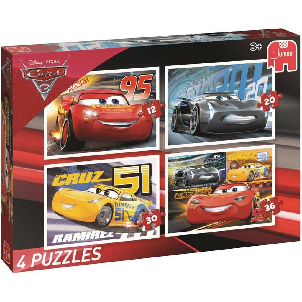 PUZZEL CARS 4 IN 1