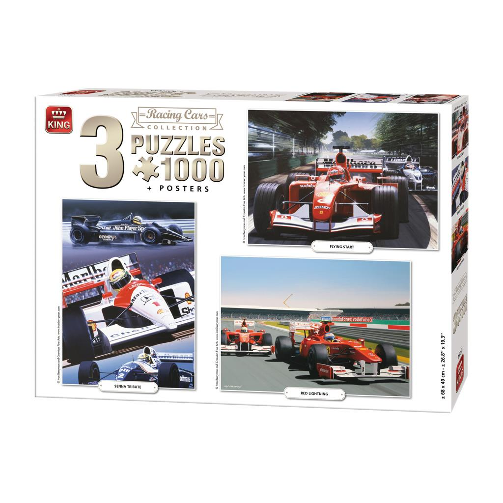 PUZZEL 3 IN 1 RACE COLLECTION