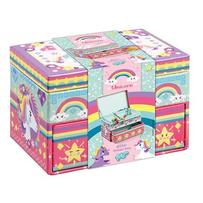 UNICORN GLITTER MOZAIK BOX