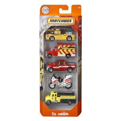 MATCHBOX 5-PACK FIRE