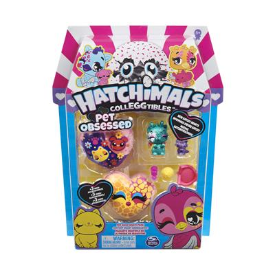 HATCHIMALS COLLEGTIBLES SERIE 7 4 PACK PET LOVER ASSORTI