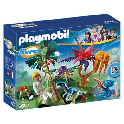 PLAYMOBIL 6687 SUPER 4 ISLAND MET ALIEN EN RAPTOR