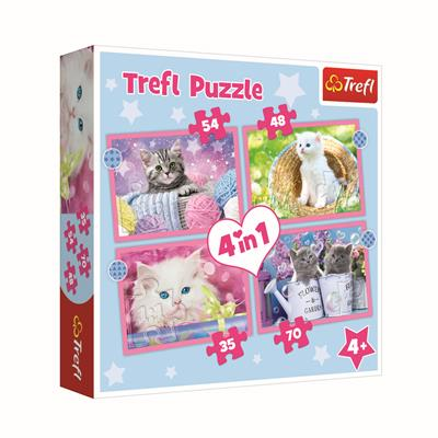 PUZ 4 IN 1 FUNNY CATS